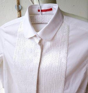 Prada Camicetta a blusa bianco