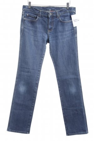 Prada Boot Cut Jeans dunkelblau College-Look