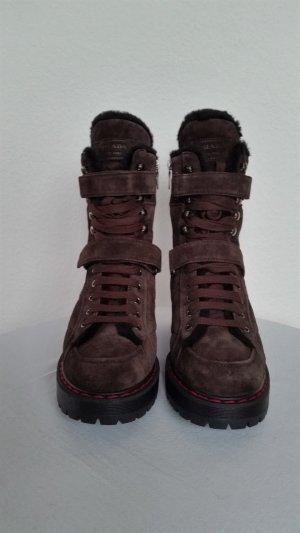 Prada Winter boots zwart bruin-zwart Suede