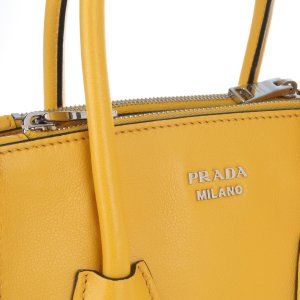 Prada Handbag dark yellow-yellow leather