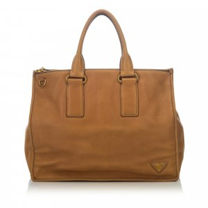 Prada Boxy Leather Satchel