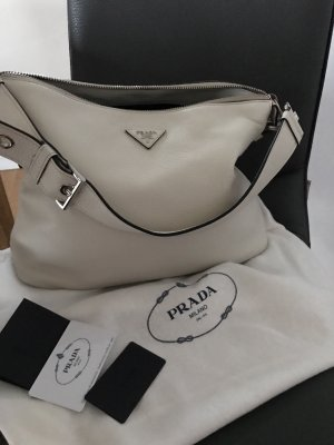 Prada BR5122 Vit. Daino Talco Shoulder Bag