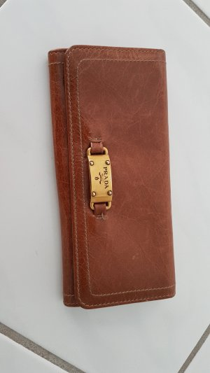 Prada Wallet light brown-brown leather
