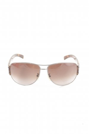 Prada Brille bronzefarben Allover-Druck Casual-Look