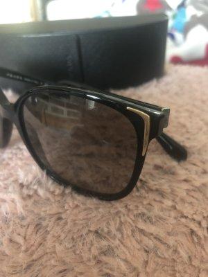 Prada Gafas de sol cuadradas negro-marrón claro