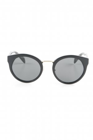 Prada Brille schwarz-goldfarben Street-Fashion-Look