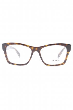 Prada Glasses black brown-dark orange animal pattern elegant