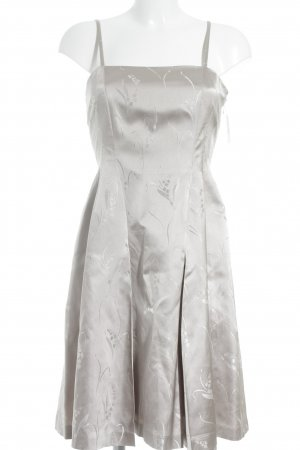 Prada Bustier Dress light grey flower pattern wet-look