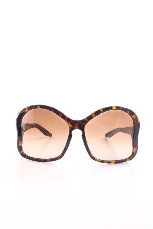 Prada Butterfly Brille braun-hellorange abstraktes Muster Business-Look