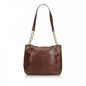 Prada Calf Leather Chain Shoulder Bag
