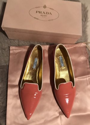Prada Patent Leather Ballerinas salmon-white