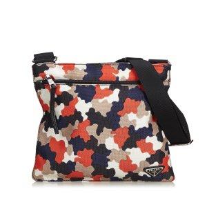 Prada Camouflage Canvas Crossbody Bag