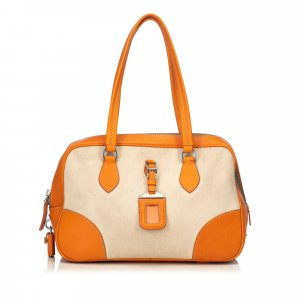 Prada Canapa Canvas Handbag
