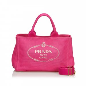 Prada Canapa Canvas Logo Satchel