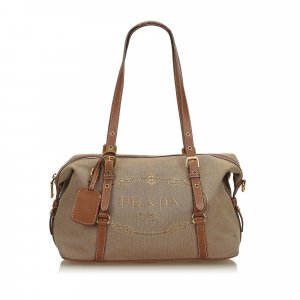 Prada Canapa Jacquard Shoulder Bag