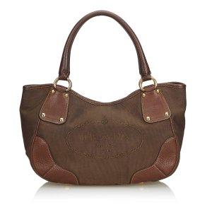 Prada Canapa Jacquard Tote Bag