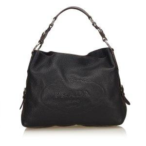Prada Canapa Leather Shoulder Bag
