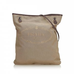 Prada Canapa Nylon Shoulder Bag