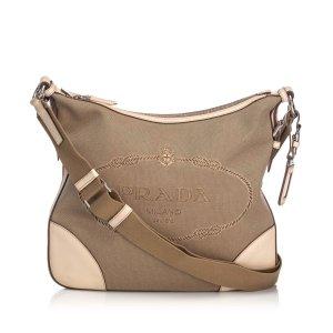 Prada Canpa Jacquard Crossbody Bag