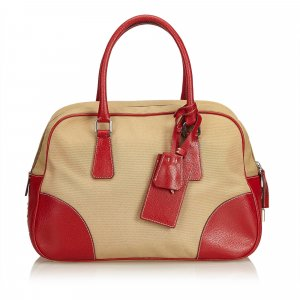 Prada Canvas Bowler Bag