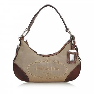 Prada Canvas Canapa Shoulder Bag