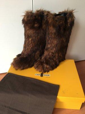 Car Shoe Fur Boots multicolored leather