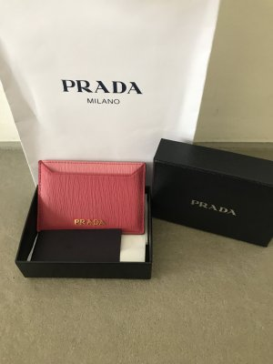 Prada Card Case raspberry-red-pink