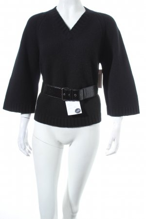 Prada Kasjmier trui zwart casual uitstraling