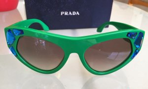Prada Butterfly Glasses green-blue synthetic material