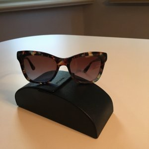 Prada Butterfly bril donkergrijs-zwart bruin Synthetische vezel