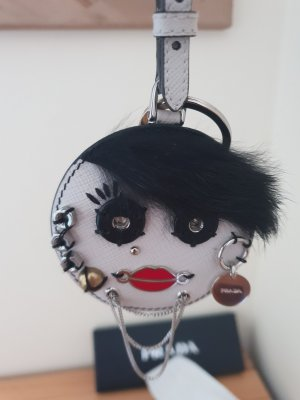 Prada Charm Taschenanhänger mit Spiegel Neu