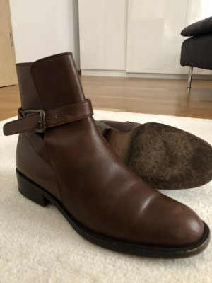 Prada Chelsea Boots brown-cognac-coloured leather