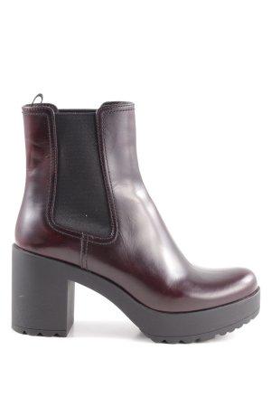 Prada Chelsea Boots bordeauxrot Casual-Look