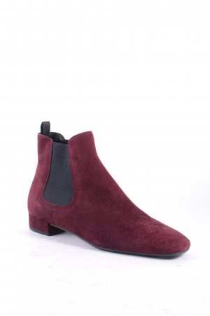 Prada Chelsea Boot bordeau style simple