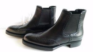 Prada, Chelsea Boots, Leder, schwarz, Gr. 40, neu, UPE € 850,-