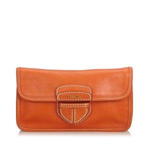 Prada Clutch orange leather