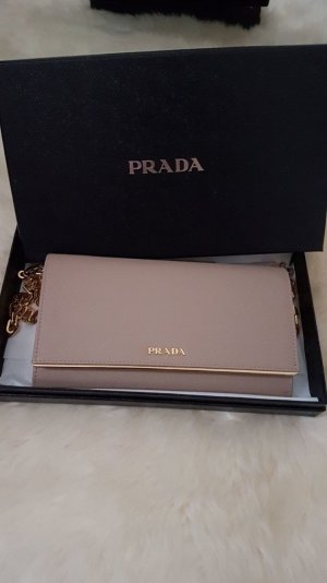 Prada Clutch nude leather
