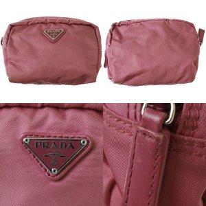 PRADA Clutch  Bag Pouch Pink Nylon
