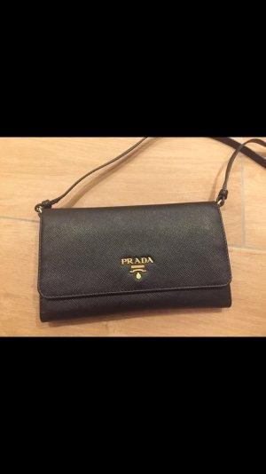 Prada Clutch Handtasche Geldbörse neu schwarz mit Karton + Zertifikat Echtheit
