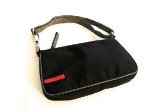 Prada Bolso de mano negro fibra textil