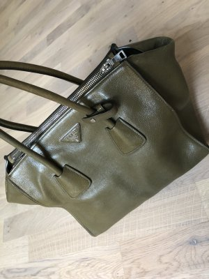 Prada Carry Bag green grey-grey leather