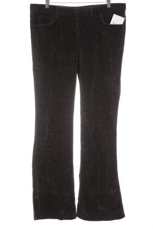 Prada Pantalon en velours côtelé noir style décontracté