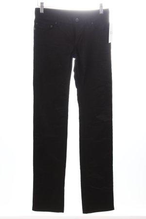 Prada Corduroy broek zwart wetlook