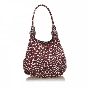 Prada Cotton Heart Print Shoulder Bag