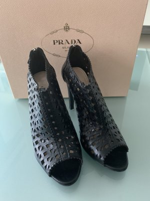 Prada Cut Out Booties black