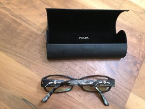 Prada Glasses dark brown-silver-colored synthetic material