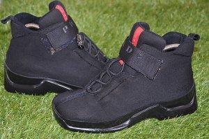 Prada Zapatos brogue negro tejido mezclado
