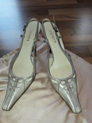 PRADA Damen Schuhe Gr.38,5.Hellgrau.