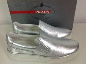 Prada Damen Sneaker silber Gr. 40,5