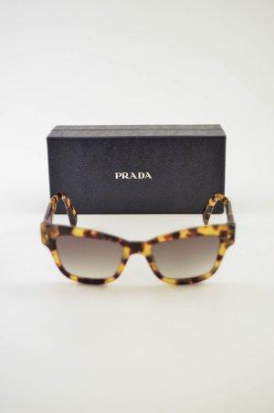 Prada Hoekige zonnebril veelkleurig kunststof